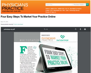 4 Easy Steps to Market Your Practice Online - Patient Pop