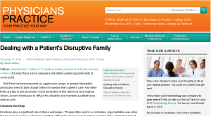 Physicians Practice - Disruptive Family